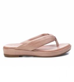 Sandalias de piel 67870 nude