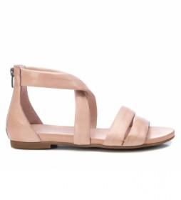 Sandalias de piel 067878 nude