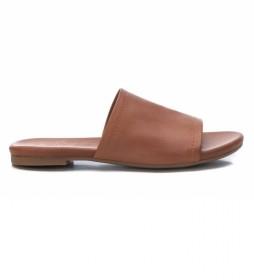 Sandalias de piel 067886 camel