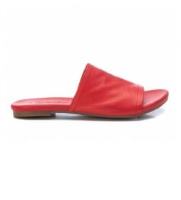 Sandalias de piel 067886 rojo