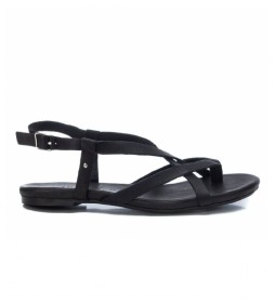 Sandalias de piel 067887 negro