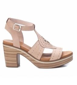 Sandalias de piel 067889 nude -Altura tacón: 9cm-