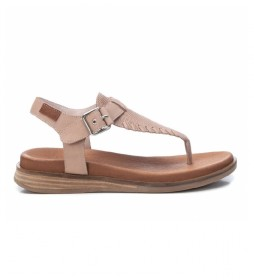 Sandalias de piel 067890 nude
