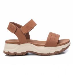 Sandalias Piel 067893 marrón