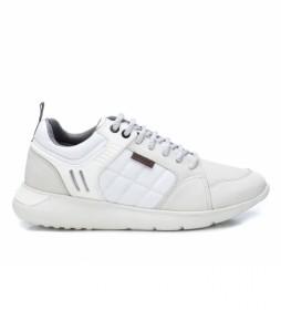 Zapatillas de piel 067287 blanco