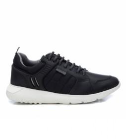 Zapatillas de piel 067287 negro