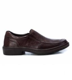 Zapatos de piel  067506 marrón