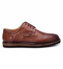 Zapatos de piel   067515 camel