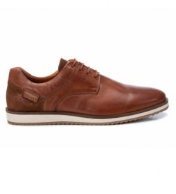 Zapatos de piel 067517 marrón