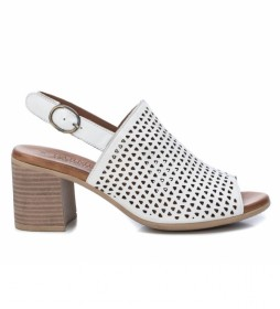 Sandalias de piel 067120 blanco -Altura tacón:7cm-