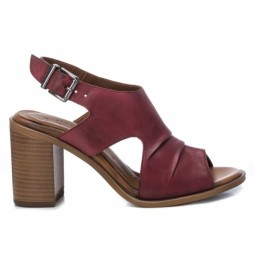 Sandalias de piel 067128 rojo -Altura tacón: 8cm-