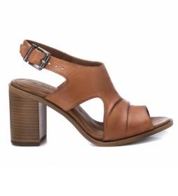 Sandalias de piel 067128 camel -Altura tacón: 8cm-