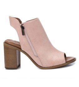 Sandalias de piel 067131 nude -Altura tacón 8cm-