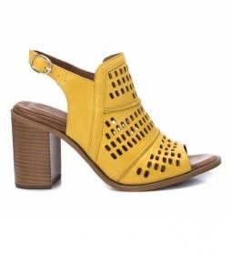 Sandalias de piel 067132 amarillo -Altura tacón: 8cm-