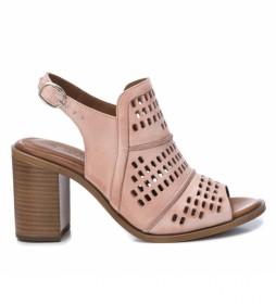 Sandalias de piel 067132 nude -Altura tacón: 8cm-