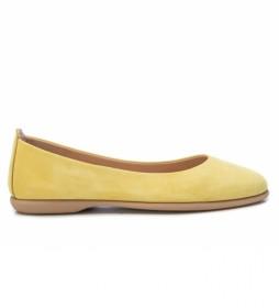 Bailarinas de piel 067149 amarillo