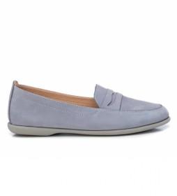 Zapatos de piel  067150 azul