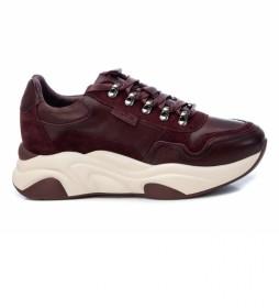 Zapatillas de piel  067596 burdeos