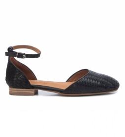 Sandalias Bailarinas de Piel 067659 negro