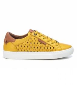 Zapatillas de piel 067826 amarillo