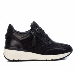 Zapatillas de piel  068000 negro