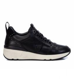 Zapatillas de piel  068039 negro