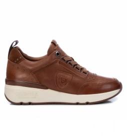 Zapatillas de piel 068039 camel