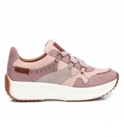 Zapatillas de piel 068066 rosa