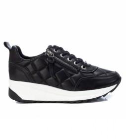 Zapatillas de piel 068183 negro