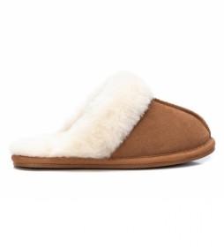 Zapatillas de casa 068188 camel