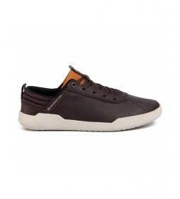 Zapatillas de piel HEX marrón