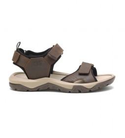 Sandalias de piel Waylon 40 marrón chocolate