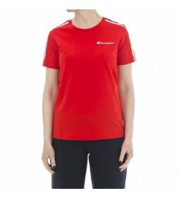 Camiseta Franjas con Logotipo rojo