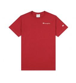 Camiseta Small Script Logo rojo