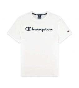Camiseta Script Logo Print blanco