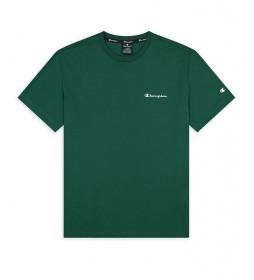 Camiseta de Punto con Logo Pequeño verde