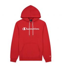 Sudadera Hooded Script Logo Algodón Terry rojo