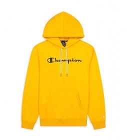Sudadera Hooded Script Logo Algodón Terry amarillo
