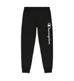 Pantalón Jogger Rib Cuff Script Logo negro