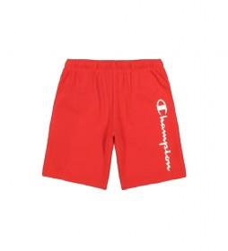 Shorts Vertical Script Logo Cotton Terry rojo