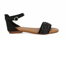 Sandalias  de piel Amazona 07 negro
