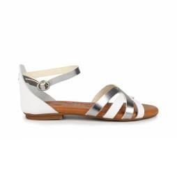 Sandalias de piel Amazona 14 blanco