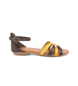 Sandalias de piel Amazona 14 marron