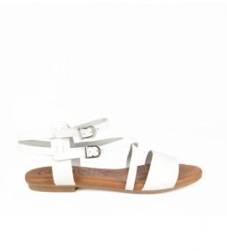 Sandalias de piel Amazona 17 blanco