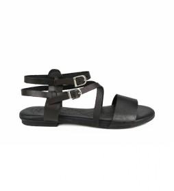 Sandalias de piel Amazona 17 negro