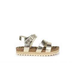 Sandalias de piel Aslei 04 dorado
