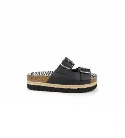Sandalias de pielAstrid 04 negro