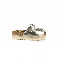 Sandalias de piel Astrid 04 oro