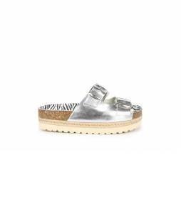Sandalias de piel Astrid 04 plata