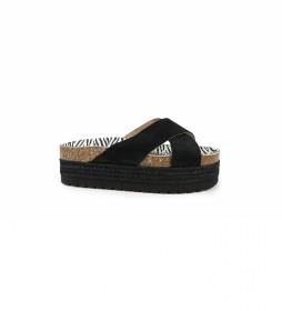 Sandalias de piel Astrid 05 negro